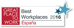 Sello Great Place to Work - Best Workplaces 2016 - España